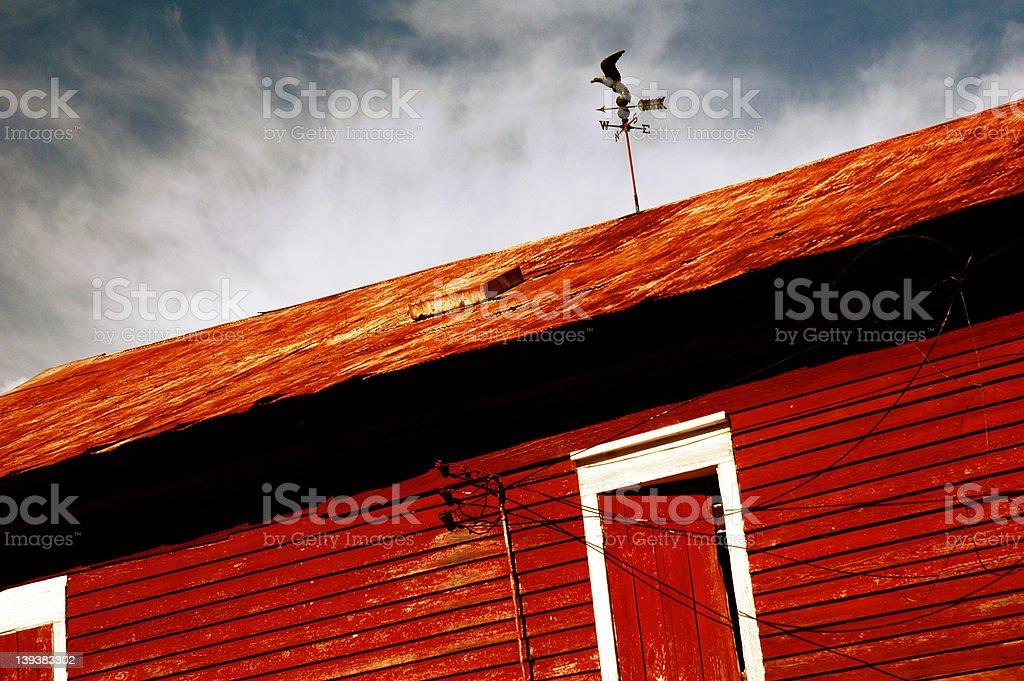 Big Red Barn stock photo