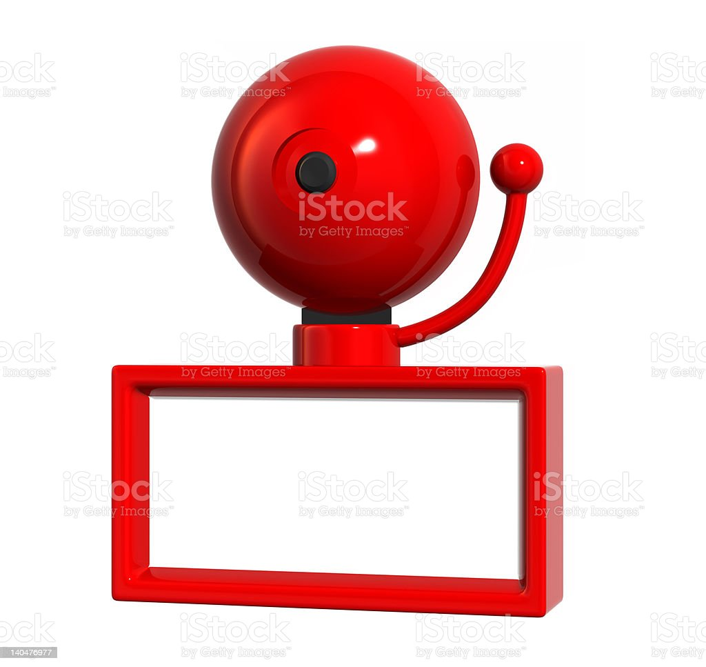 Big Red Bell stock photo