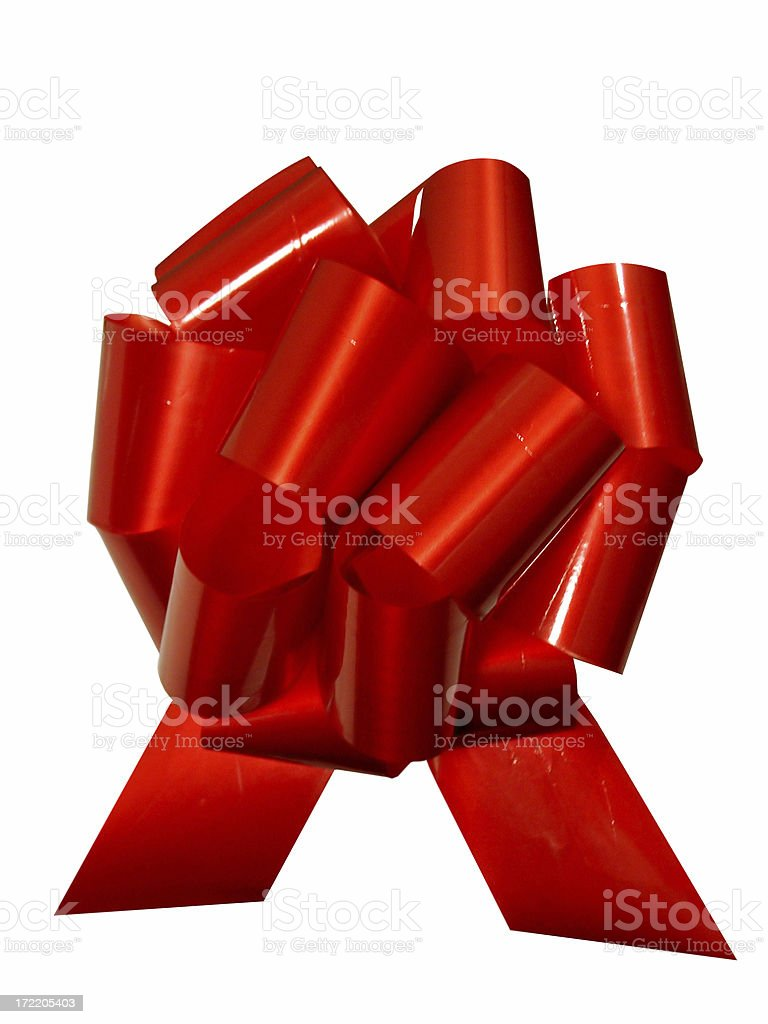 Big Red Bow - isolated royalty-free stock photo