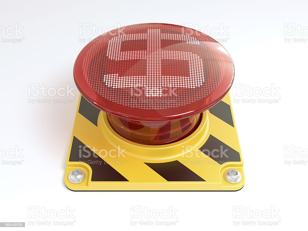 Big red button with dollar sign. royalty-free stock photo