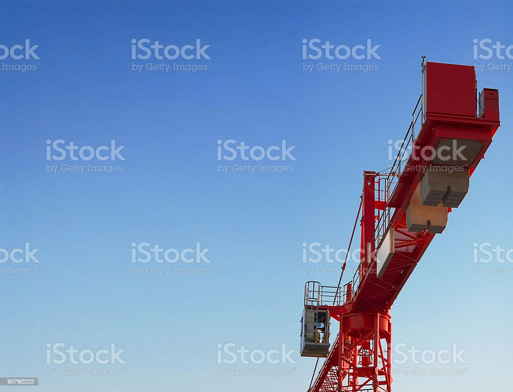 Big red crane stock photo