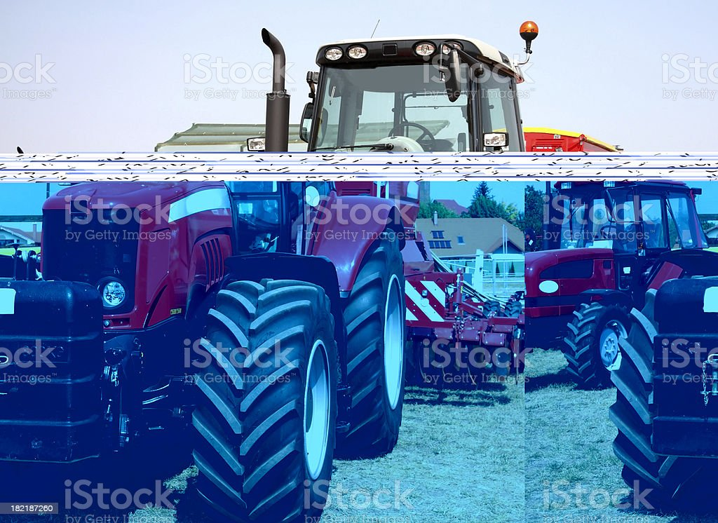 big red new tractor royalty-free stock photo