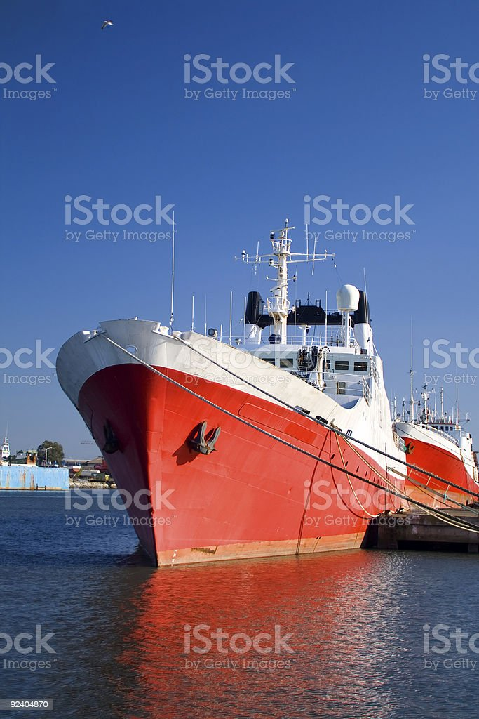 Big red ship royalty-free stock photo