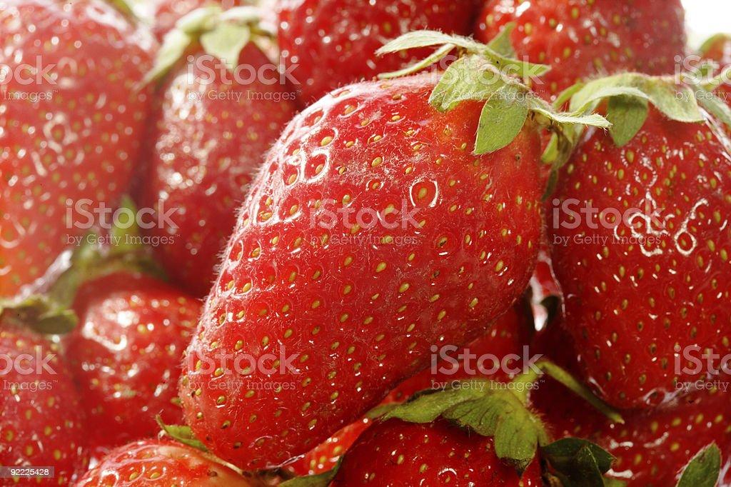 Big red strawberry stock photo