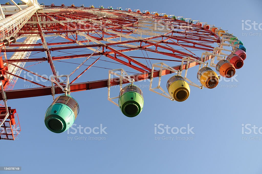 Big red wheel royalty-free stock photo