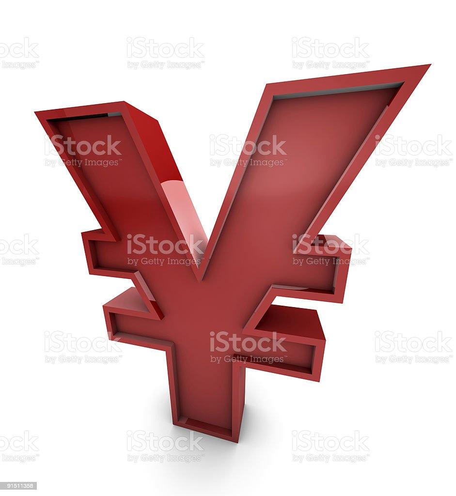 Big red yen royalty-free stock photo