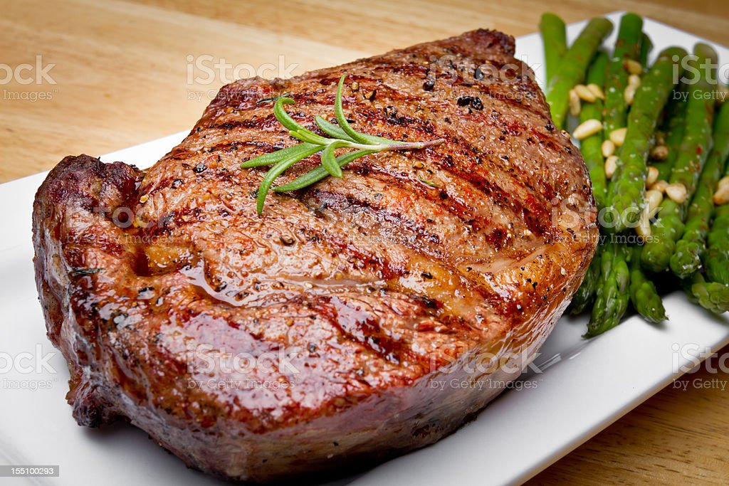 Big Rib Eye Beef Steak stock photo