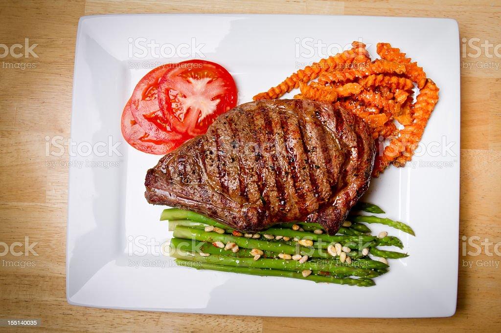 Big Rib Eye Steak stock photo