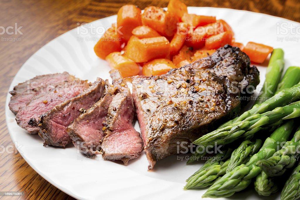 Big Rib Eye Steak royalty-free stock photo