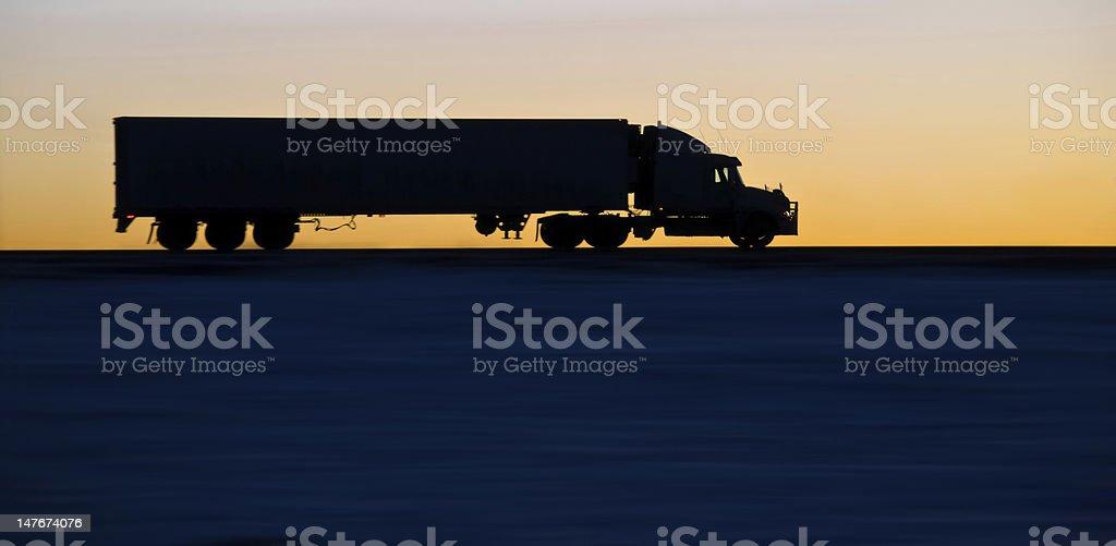 Big Rig at Sunrise royalty-free stock photo