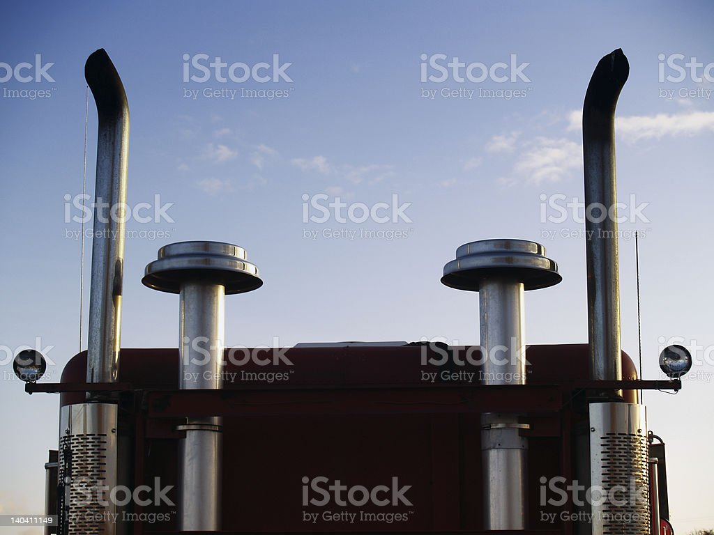 Big Rig Exhast stock photo