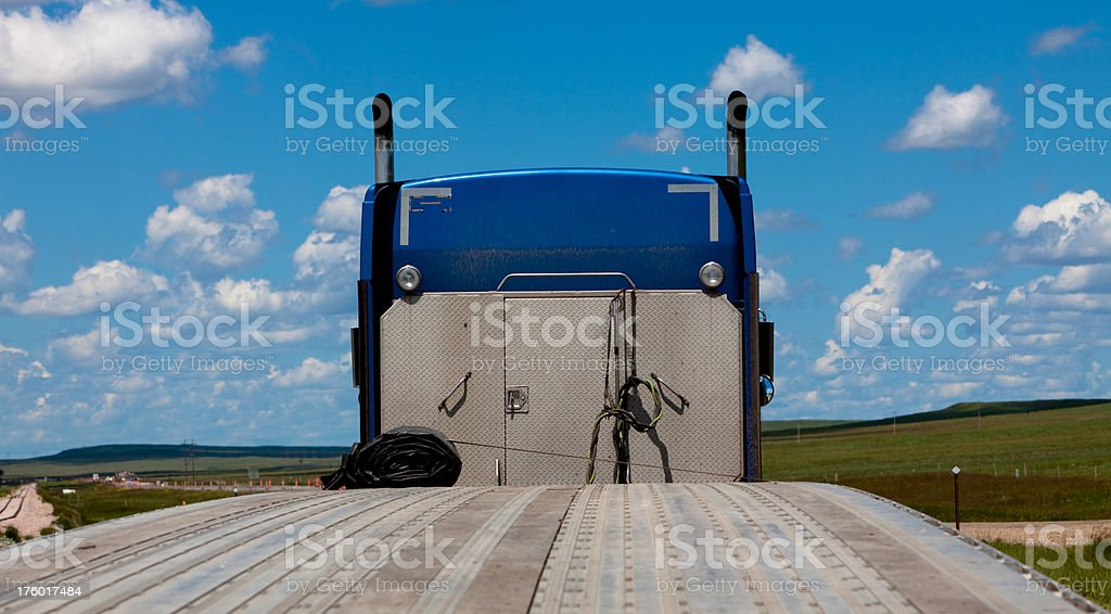 Big Rig on the Road royalty-free stock photo