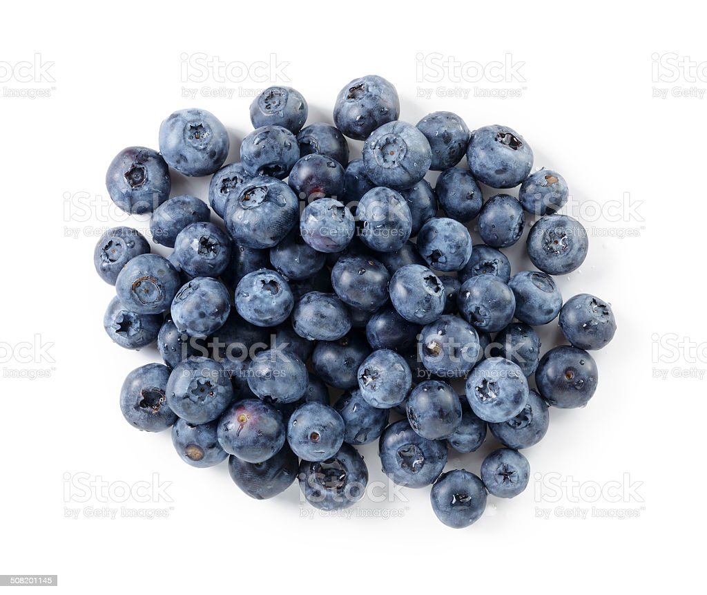 big ripe blueberries stock photo