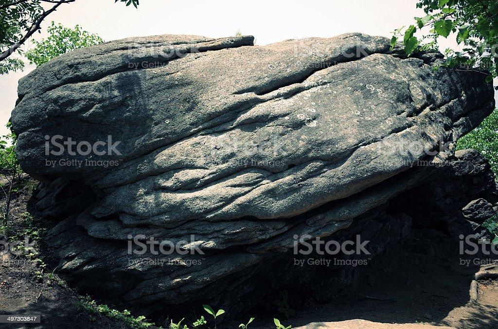 Big rock close stock photo