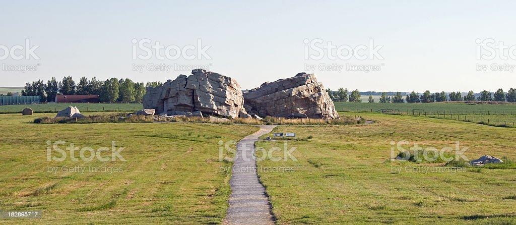 Big Rock erratic in Alberta stock photo
