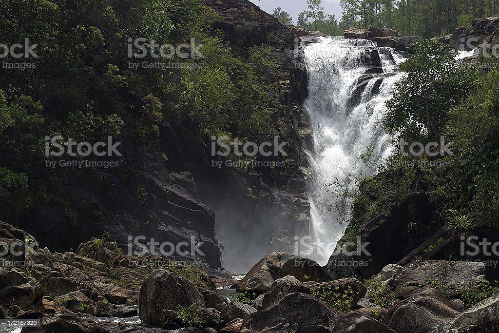 Big Rock Falls royalty-free stock photo