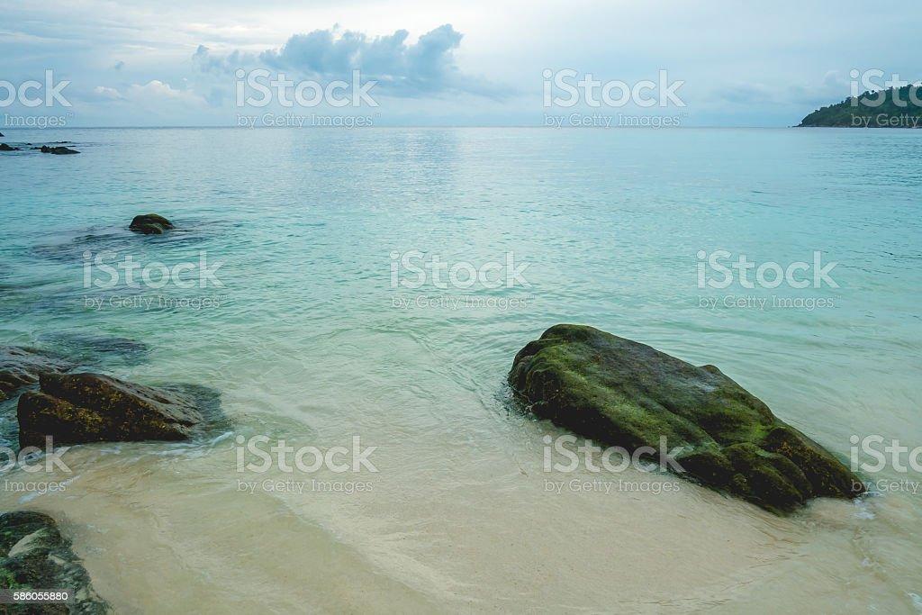 Big rocks at beach in Thailand stock photo