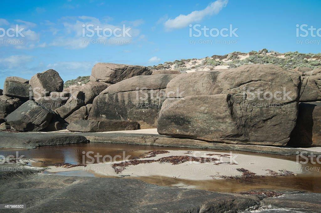 Big Rocks of Injidup Point stock photo