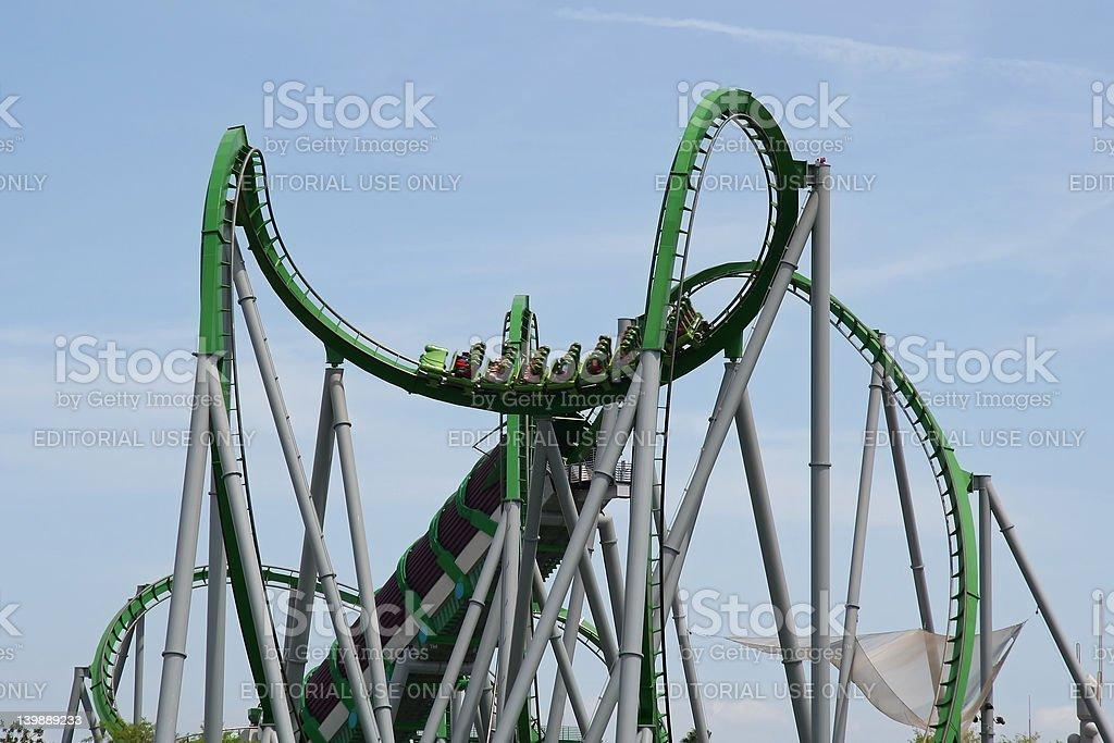 Big Roller Coaster royalty-free stock photo