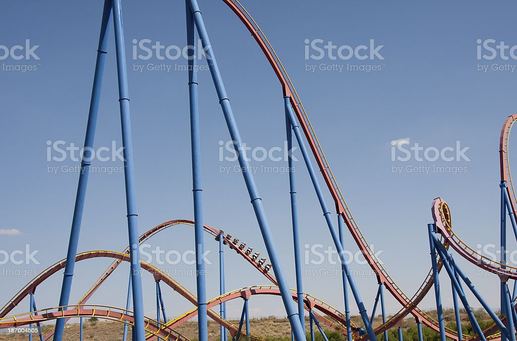 big rollercoaster royalty-free stock photo