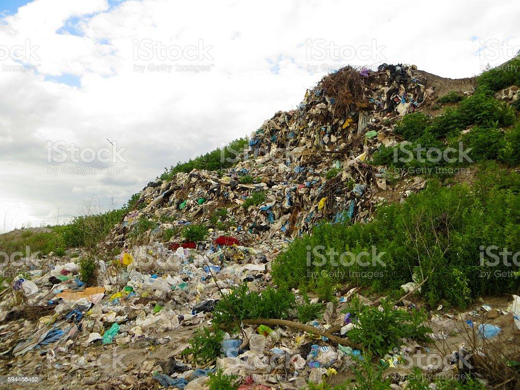 Big rubbish dump stock photo