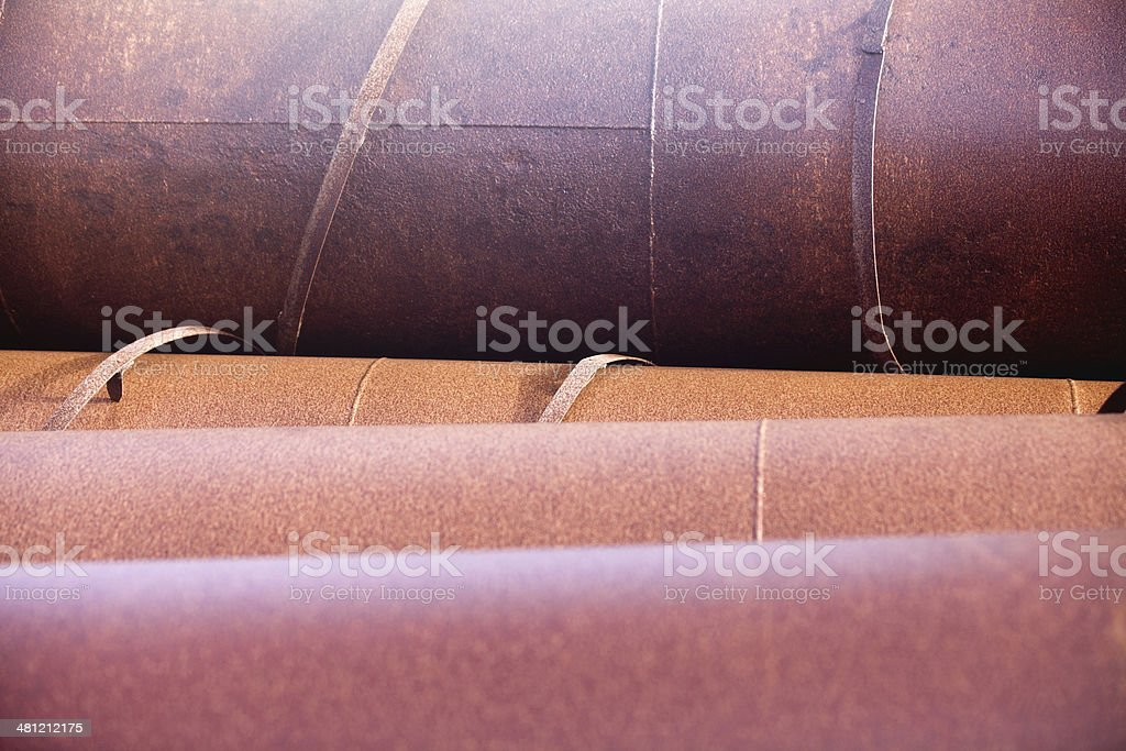 Big rusty pipes stock photo
