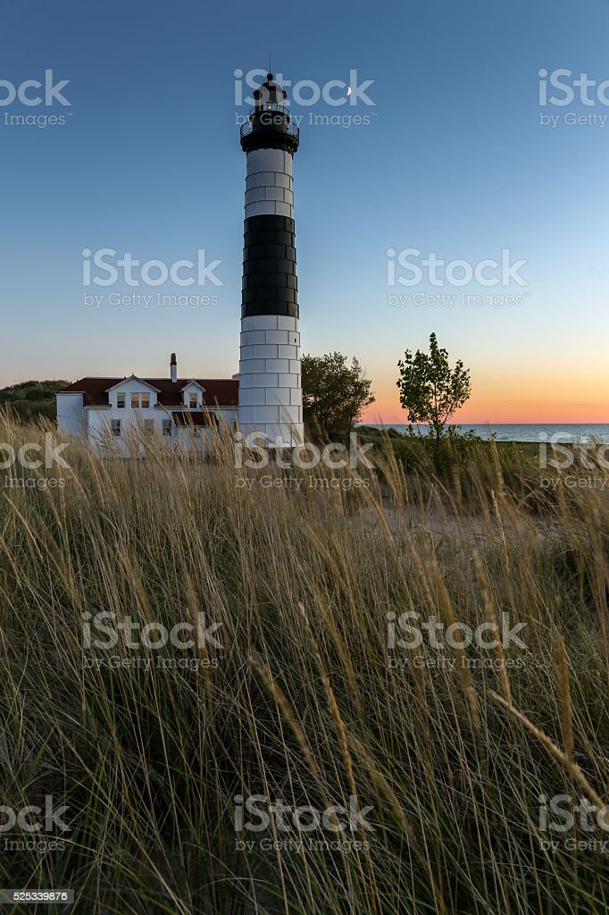 Big Sable Lighthouse - Ludington Michigan stock photo