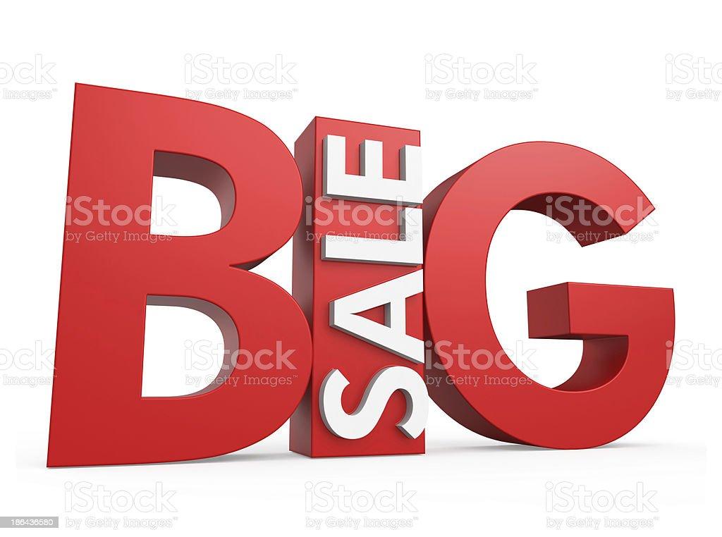 3D big sale image stock photo