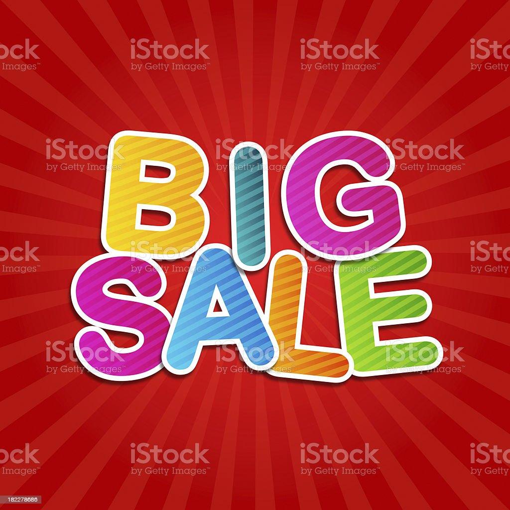 big sale poster stock photo