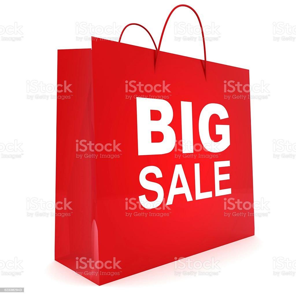 Big Sale shopping bag stock photo