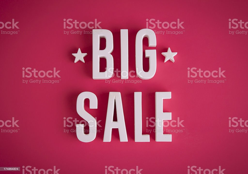 Big Sale sign royalty-free stock photo