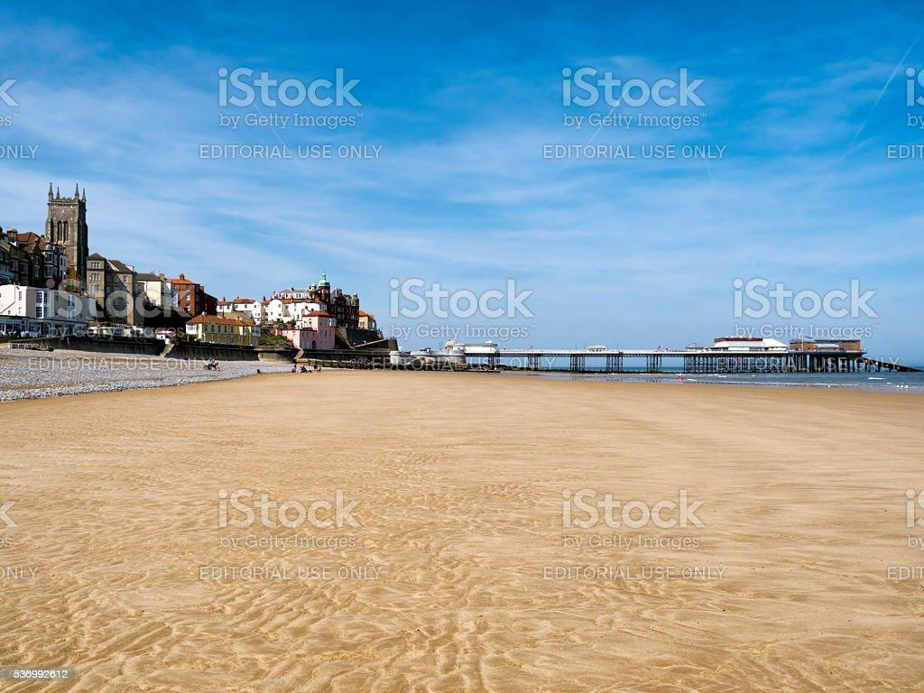Big sands at Cromer stock photo