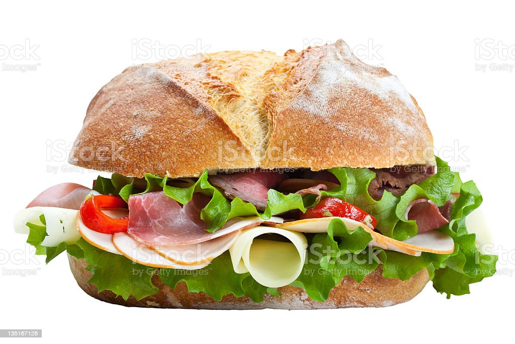 Big sandwich royalty-free stock photo