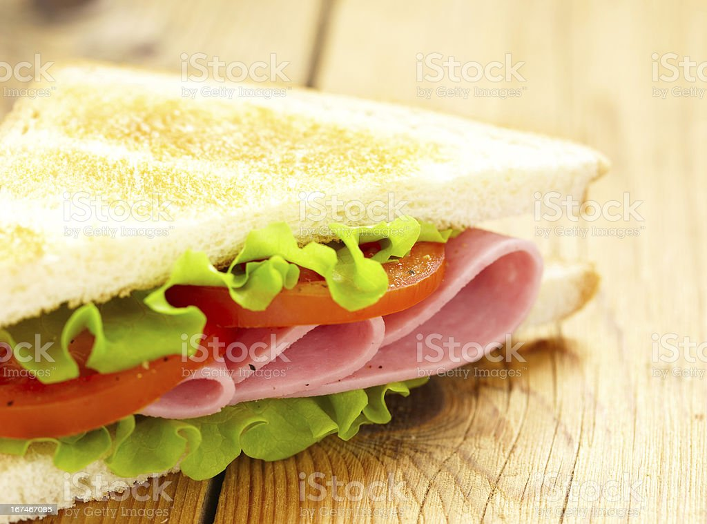 big sandwich with fresh vegetables royalty-free stock photo