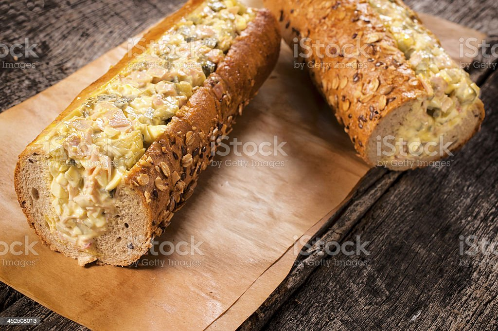 Big sandwiches royalty-free stock photo