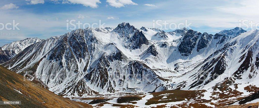 Big Sayan Mountains stock photo