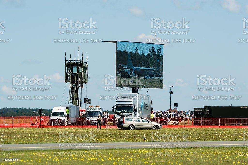 Big screen display stock photo