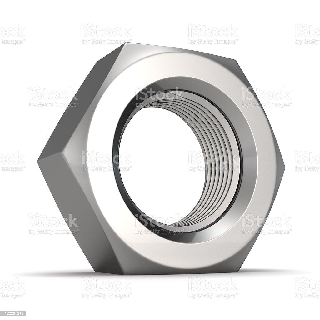 Big screw nut royalty-free stock photo