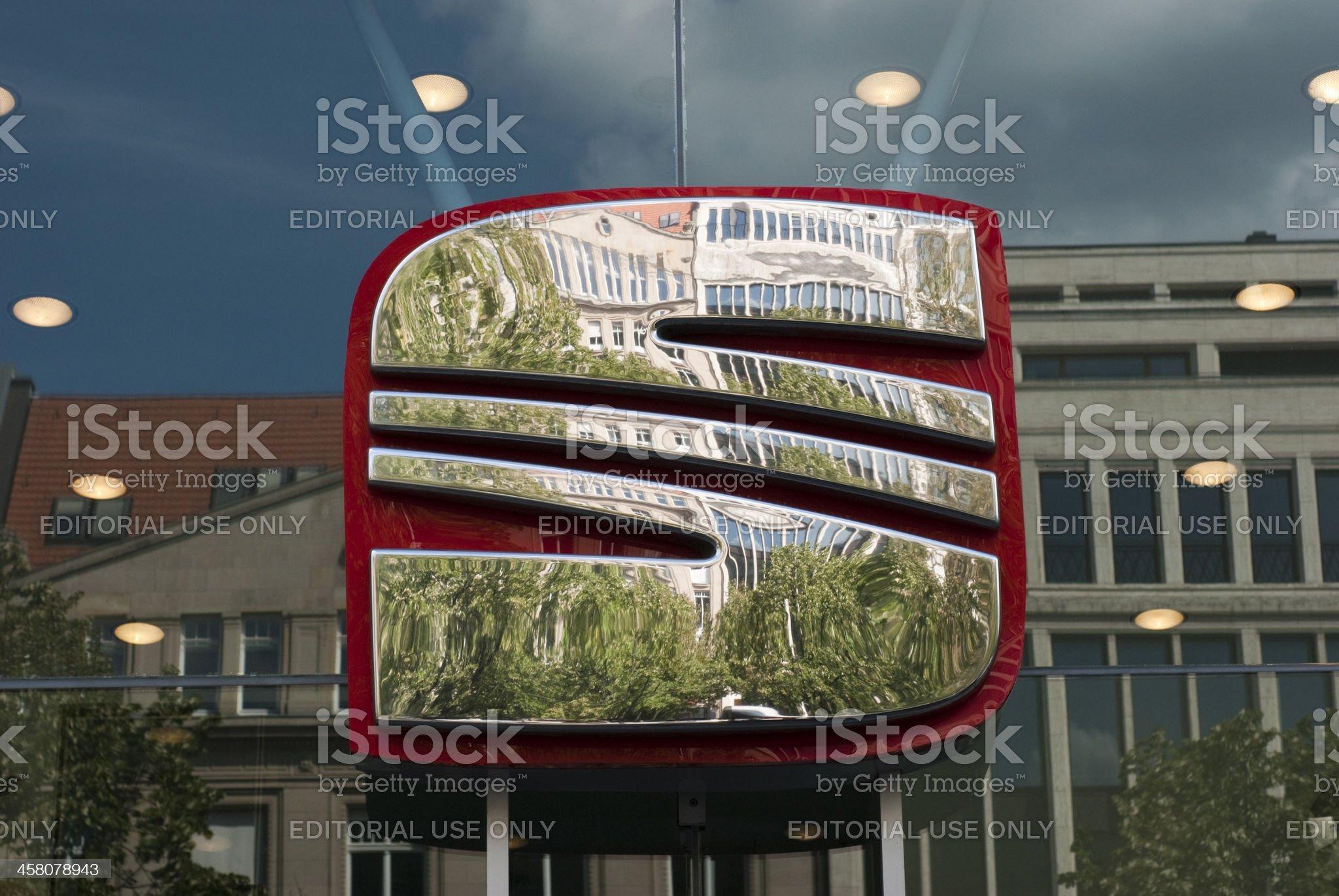 Big Seat logo royalty-free stock photo