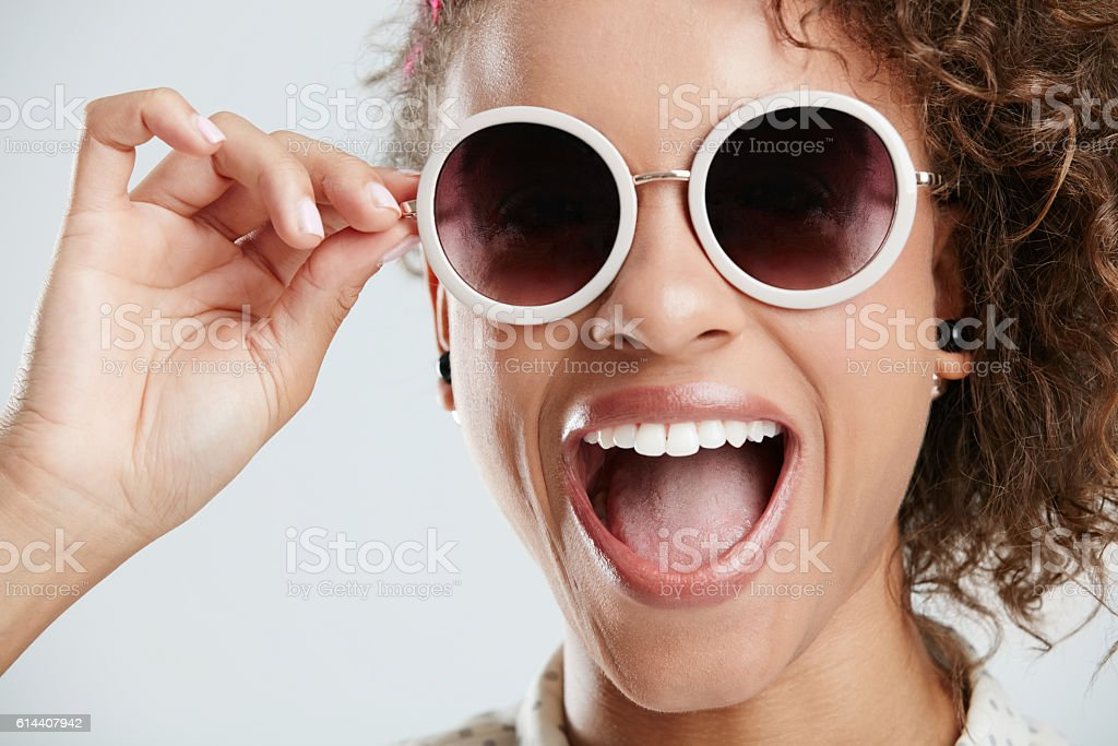 Big shades for a big personality stock photo