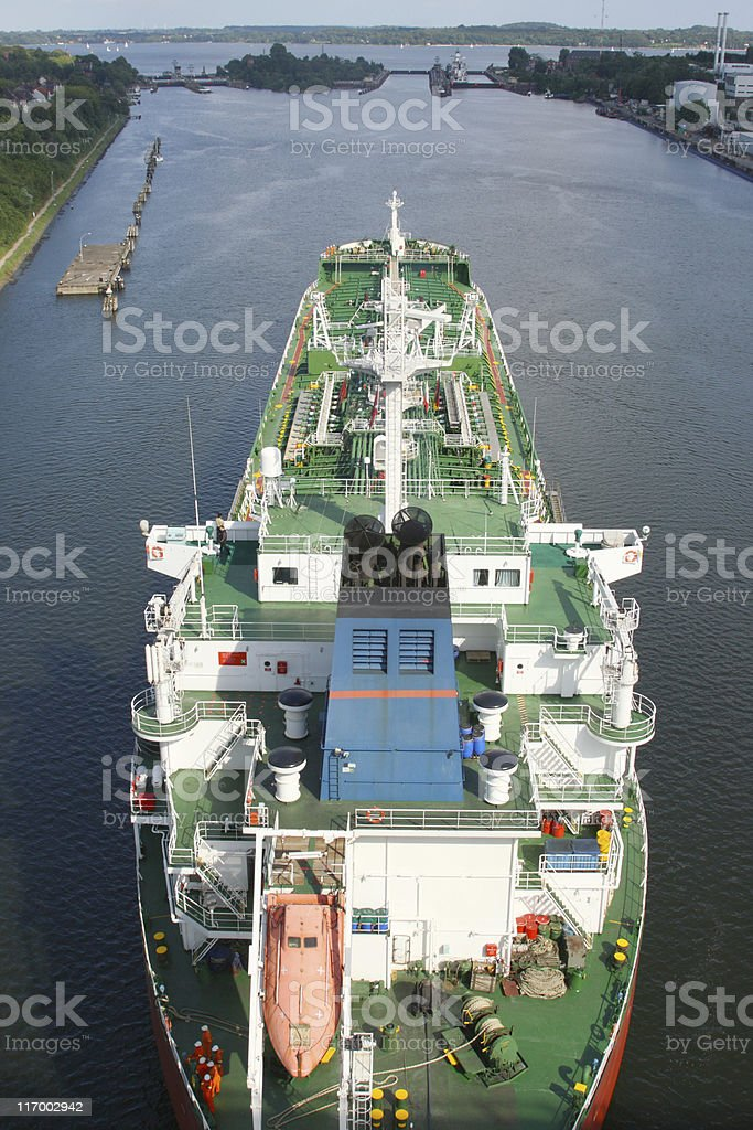 Big Ship before Watergate Top stock photo