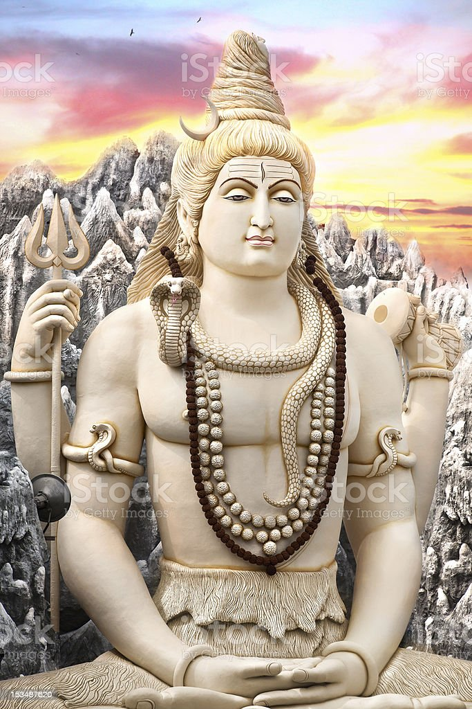 Big Shiva statue in Bangalore stock photo