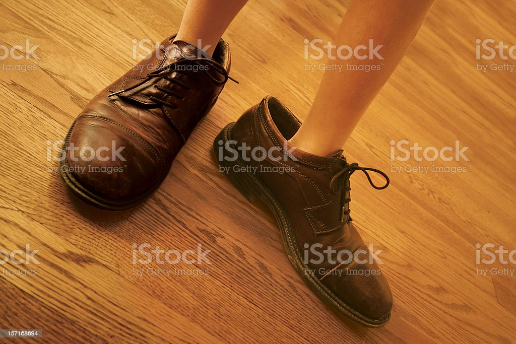 Big Shoes to Fill royalty-free stock photo