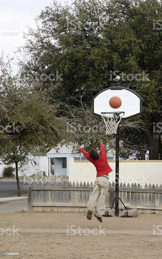 big shot basketball boy royalty-free stock photo
