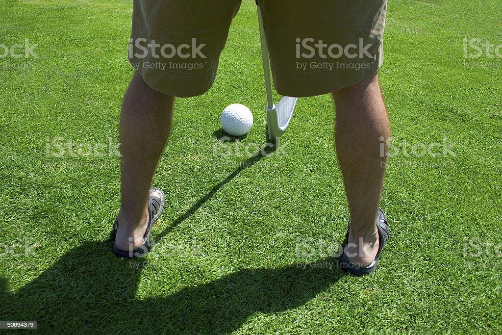 Big Shot Golfer royalty-free stock photo