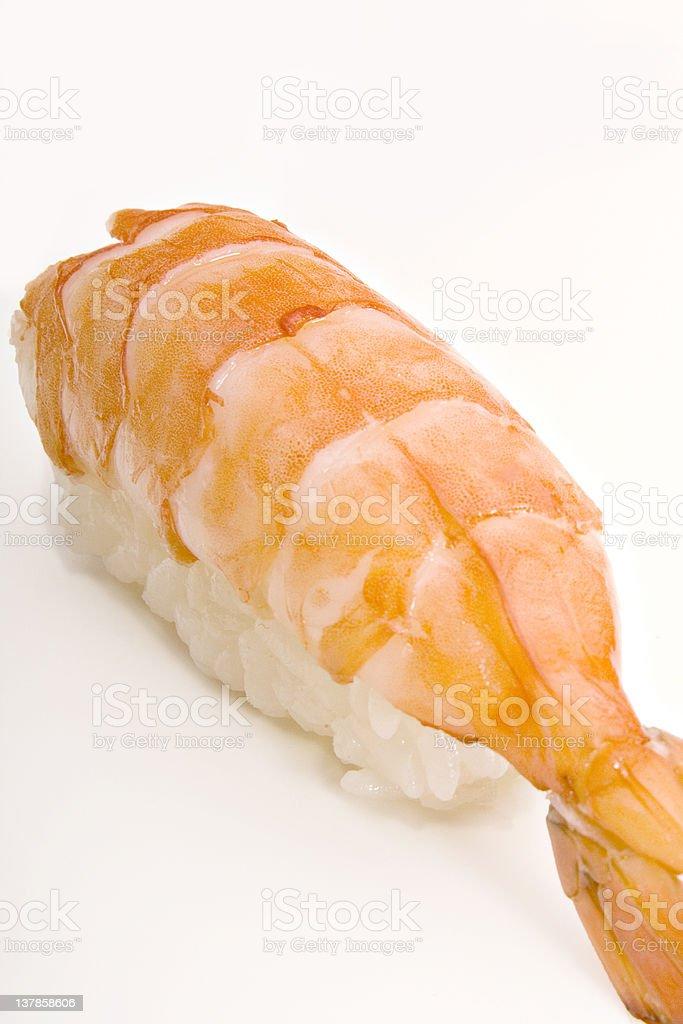 Big shrimp sushi royalty-free stock photo
