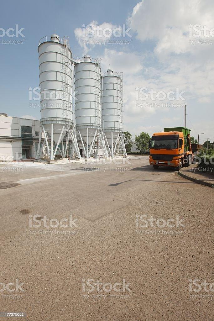 Big silos stock photo