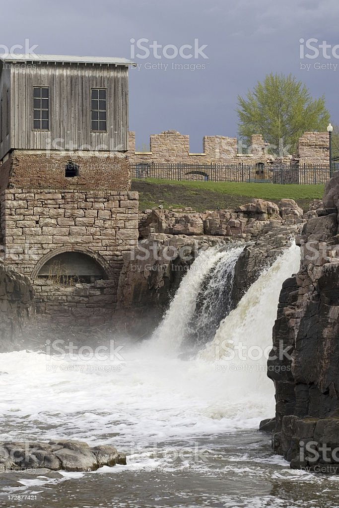Big Sioux River Falls South Dakota royalty-free stock photo
