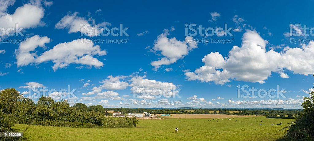 Big skies over farm and field royalty-free stock photo