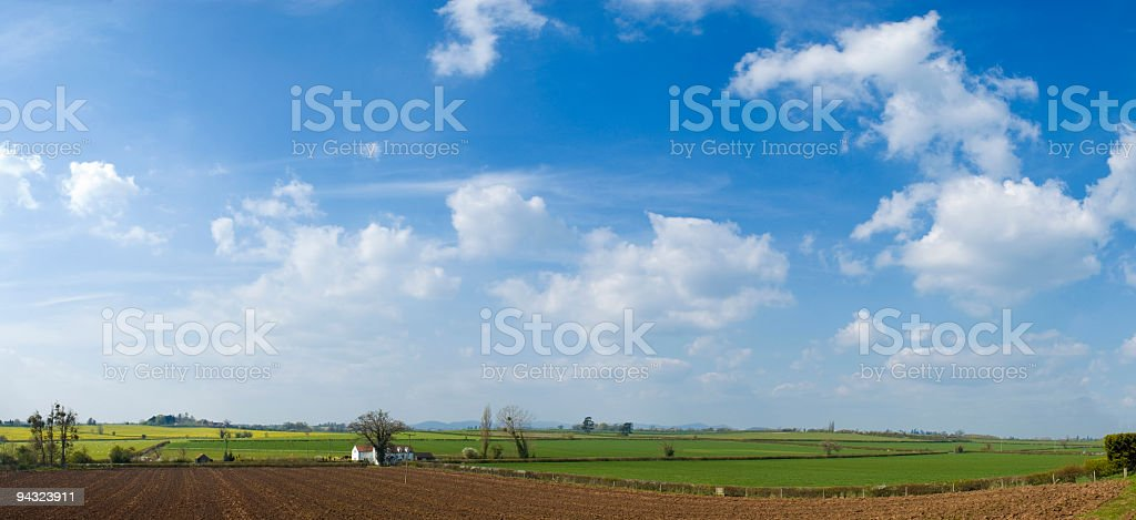 Big skies over farm and fields royalty-free stock photo